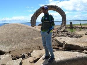 GUia de pesca Gil, de Jaguaribara (Foto: Gabriela Alves/G1)