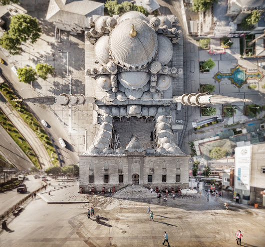 Beautiful drone photos depict the warped cityscapes of our future