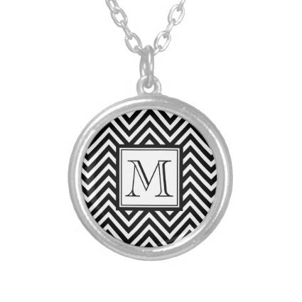 YOUR MONOGRAM, BLACK CHEVRON JEWELRY