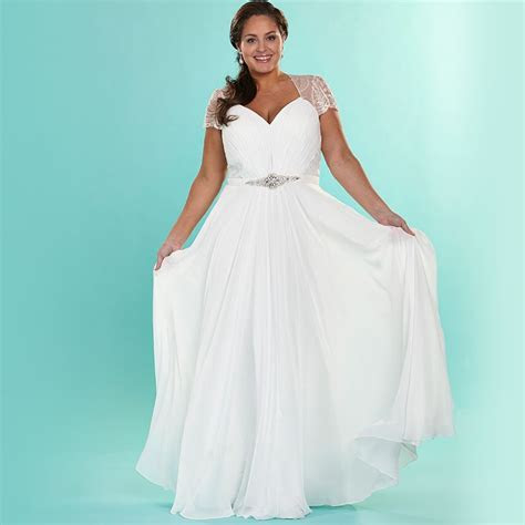 Love the Elegant Chiffon Plus Size Wedding Dresses With