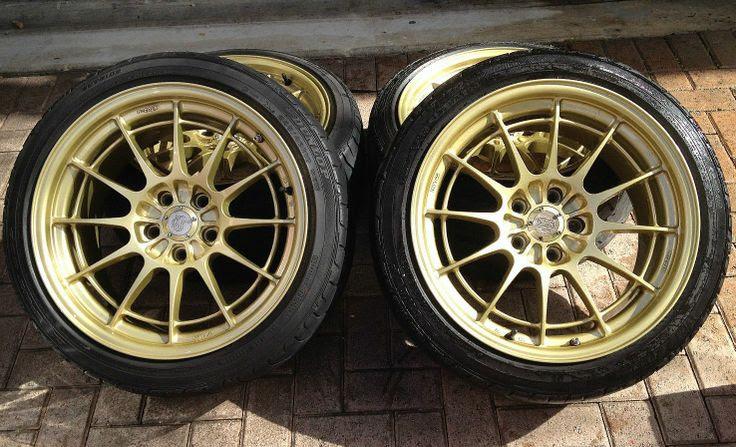 Enkei Rims Pre Owned Nt03 Gold Painted Racing Wheels Old School Jdm Rims Car Wheels