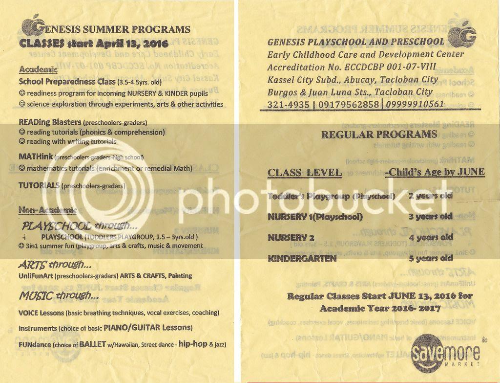Genesis Summer Programs