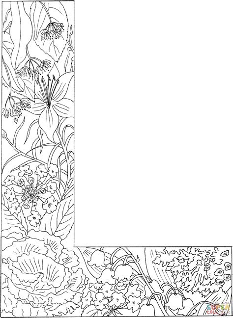 letter   plants coloring page  printable