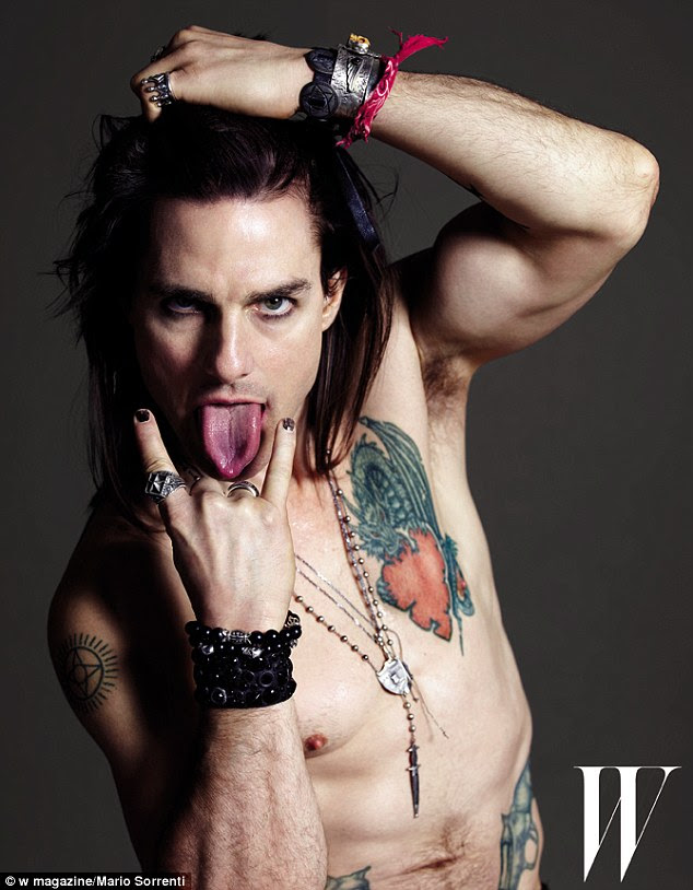 Wild one: The actor is promoting his new film Rock of Ages