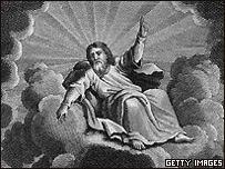 Dios en una nube, pintura del siglo XVIII