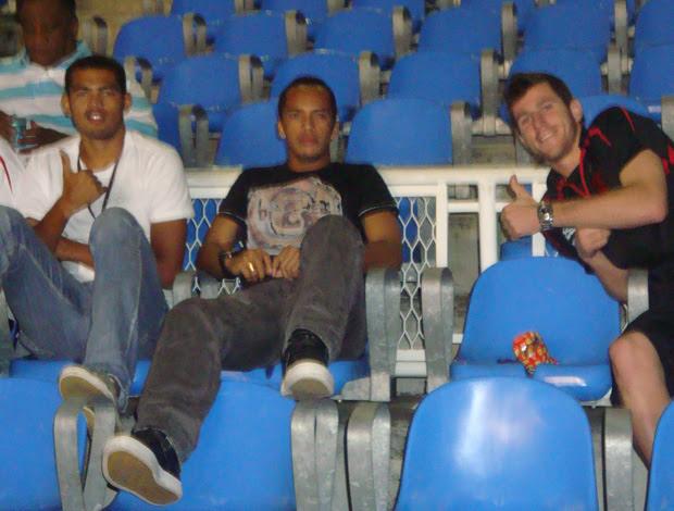 Rômulo, Michael e Paulo Victor no Maracanã