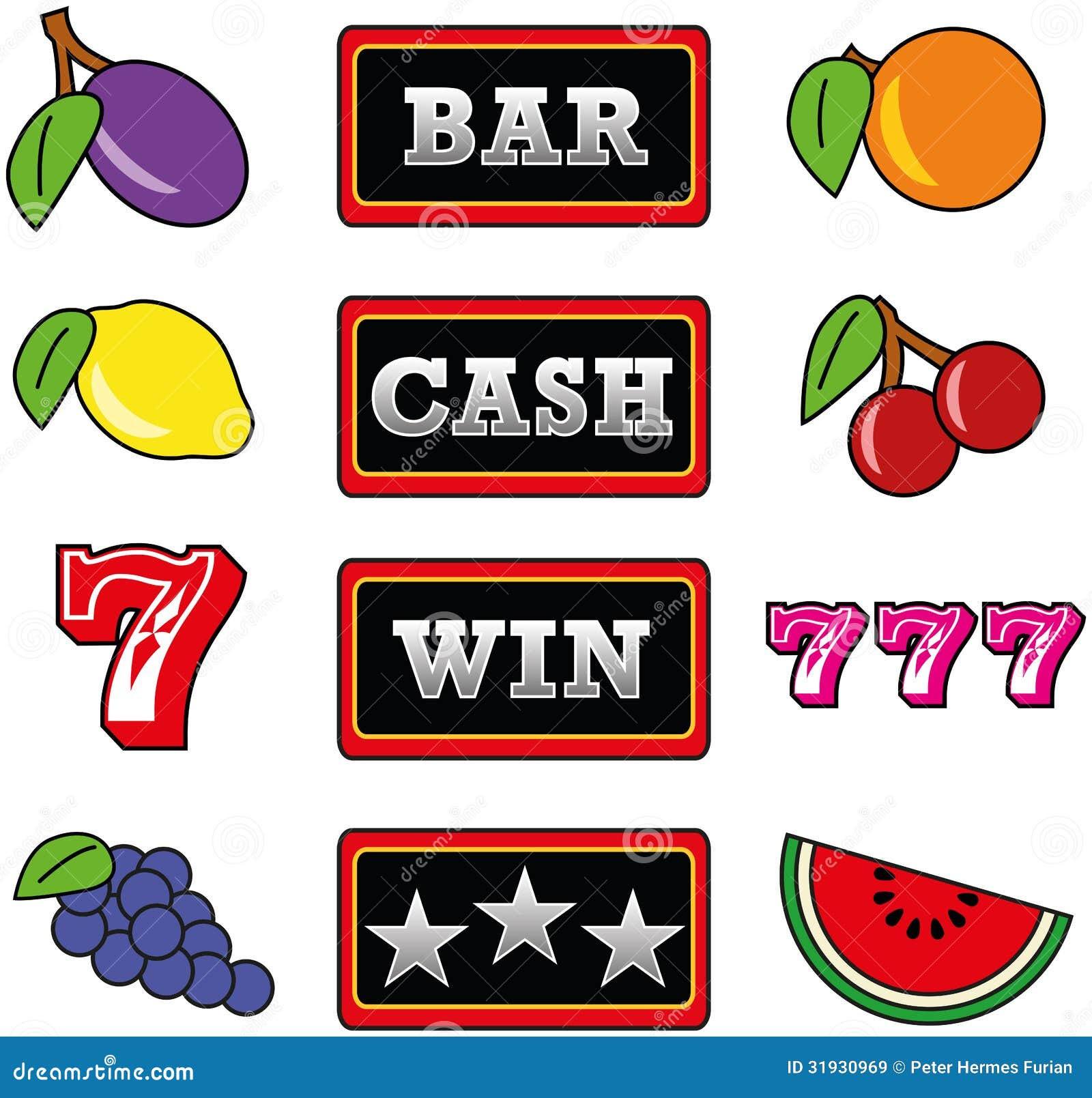 Casino slot machine symbols