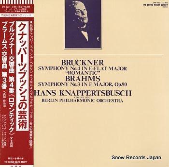 KNAPPERTSBUSCH, HANS bruckner; symphony no.4 in e-flat major romantic