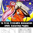 Halloween Adult Coloring Pages - Woo! Jr. Kids Activities
