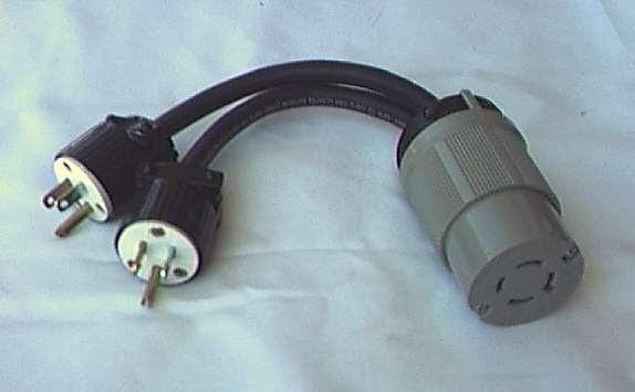 Adapt Y Generator Cord Adaptor