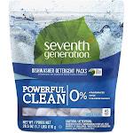 Seventh Generation Dishwasher Detergent, Free & Clear, 45 Packs - 45 packs, 28.5 oz