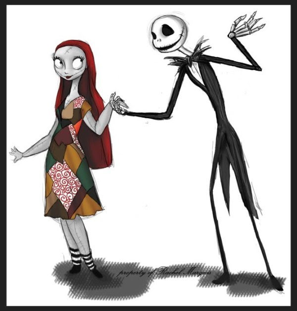 """Jack and Sally forearm tattoo. From the movie """"Nightmare before Christmas""""."""