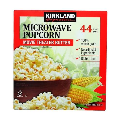 Kirkland Signature Microwave Popcorn Movie Theater Butter 44-Count