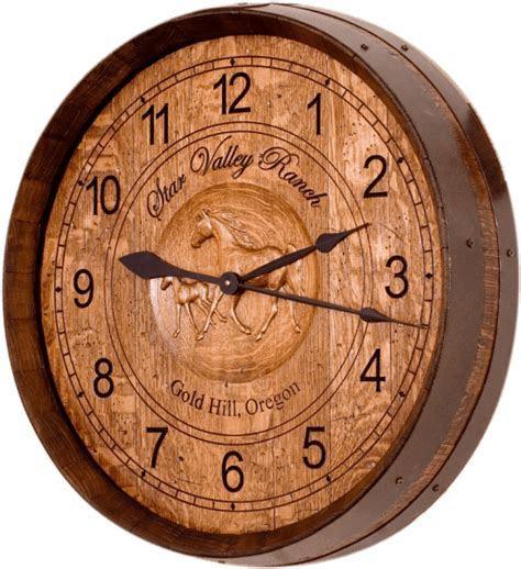 Western Ranch Style Barrel Head Wall Clock   eWoodArt.com
