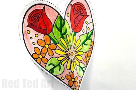Pop Up Heart Card Printable - Red Ted Art's Blog