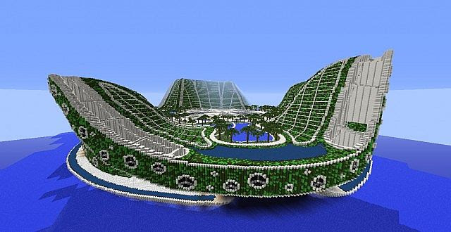 Lilypad City   Eco Floating City - Minecraft Building Inc