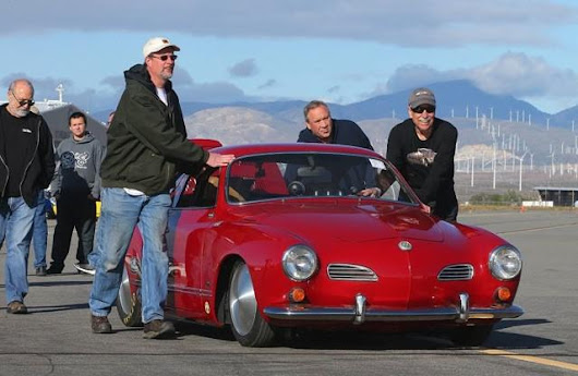 "BBT ""flies"" @ 166MPH together with VW Heroe Darrell Vittone and his insane Karmann Ghia! !"
