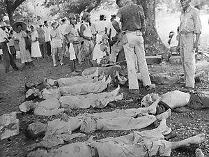 Dead soldiers on the Bataan Death March