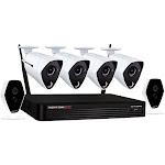 Night Owl - 6-Channel, 6-Camera Indoor/Outdoor Wireless/Wired 1TB DVR Surveillance System - Black/White