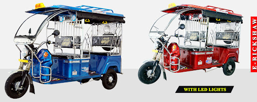 Battery Electric E Rickshaw Manufacturers in India, Delhi,