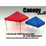 Canopy Diorama Set, White - American Diorama 77588 - 1/18 Scale Hobby Accessory