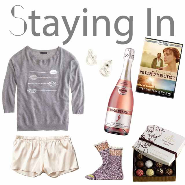 Valentine's Day Outfit: Staying In