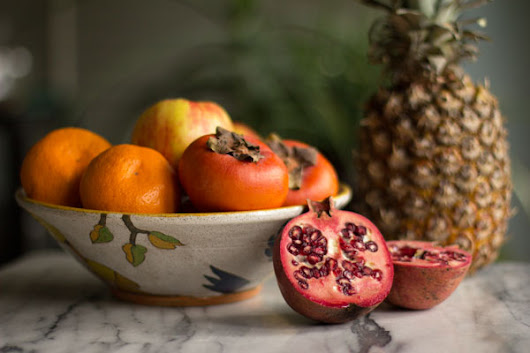 Winter Fruits Salad (Pineapple, Persimmon, and More) from MJ's Kitchen