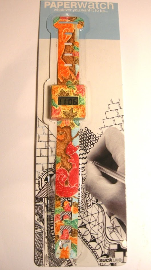 Paper Watch Project - Final Paper Watch! - Lucy Dillamore Illustration