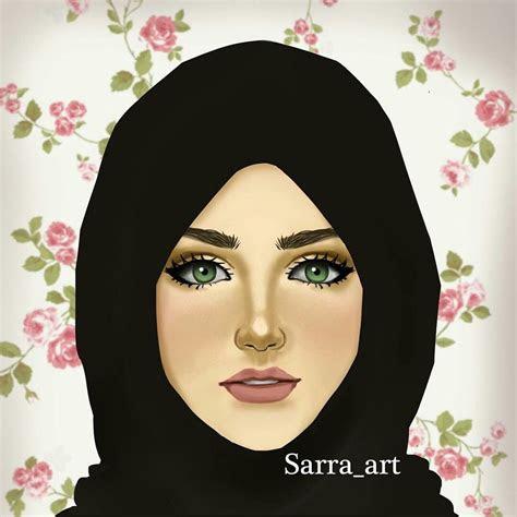 hijab girl illustration creative stuff pinterest