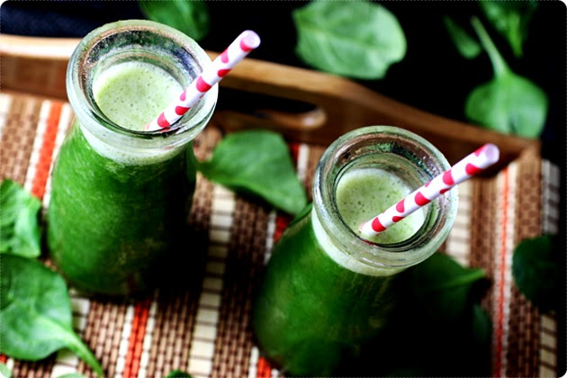 Image result for images of BANANA + PINEAPPLE + SPINACH SMOOTHIE