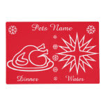 Graphic design turkey and star pets christmas laminated place mat