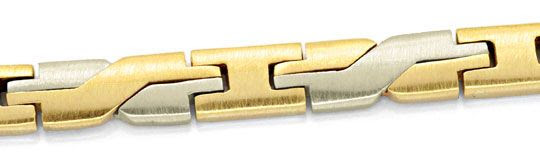 Foto 2, Design-Armband Gelbgold Weissgold massiv 14K/585 Luxus!, K2065
