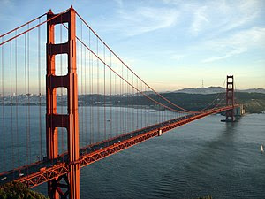 The Golden Gate Bridge and San Francisco, CA