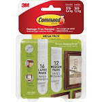 3M MMM1720928ES Command Picture Hanging Strips Mega Pack White
