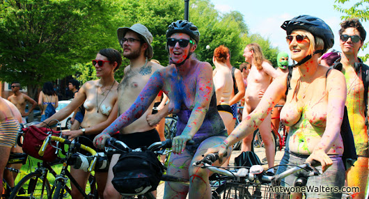 Bodypaint.Me at Philly Naked Bike Ride 2015 - Bodypaint.me