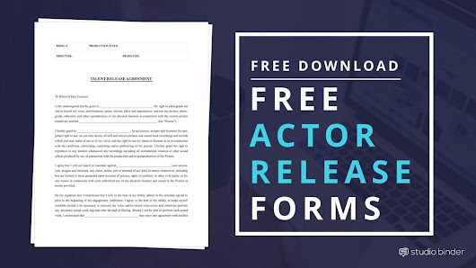 Download Free Actor Release Form Template | Filmmaking Tips