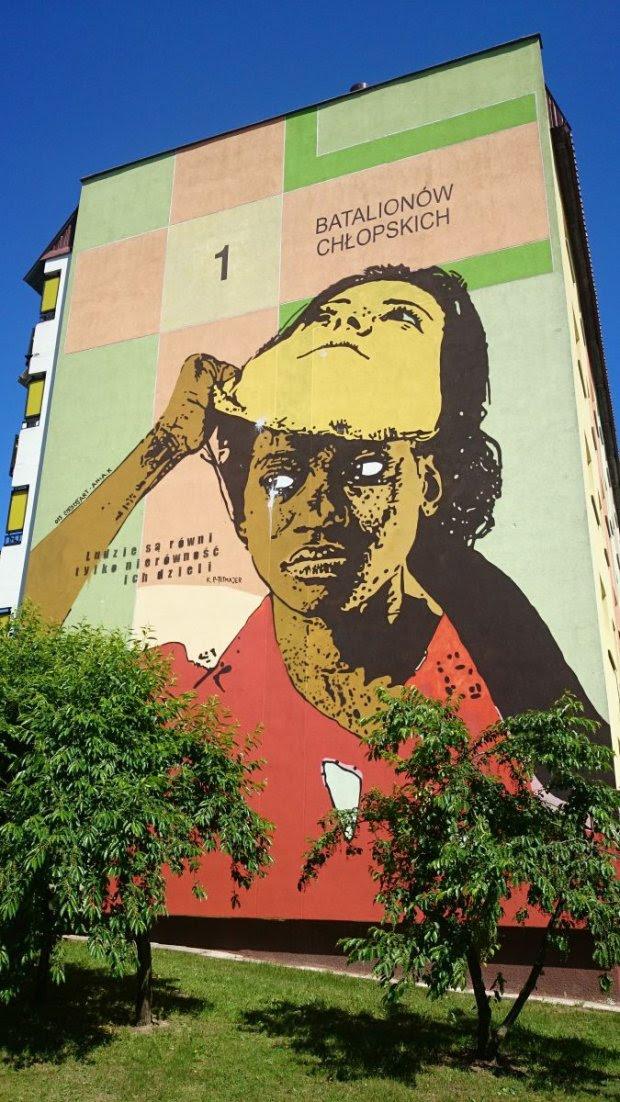 Zniszczony mural