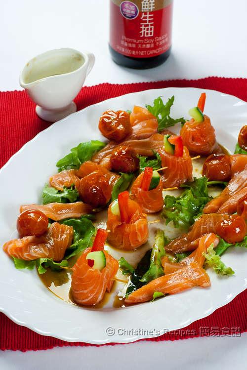 三文魚青瓜卷配醬油汁 Soy Sauce Salmon Rolls01