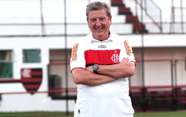 Treinado Roy Hodgson da seleção inglesa visita a Gávea (Foto: Fernando Azevedo / Fla Imagem)
