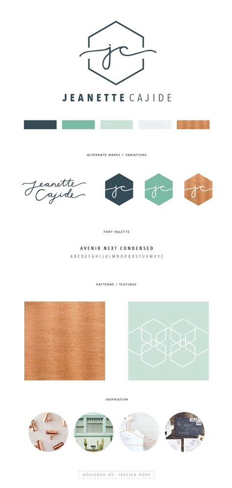 initials copper  logo design  pinterest