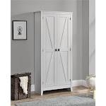 "SystemBuild Farmington 31.5"" Wide Storage Cabinet in Ivory Oak"