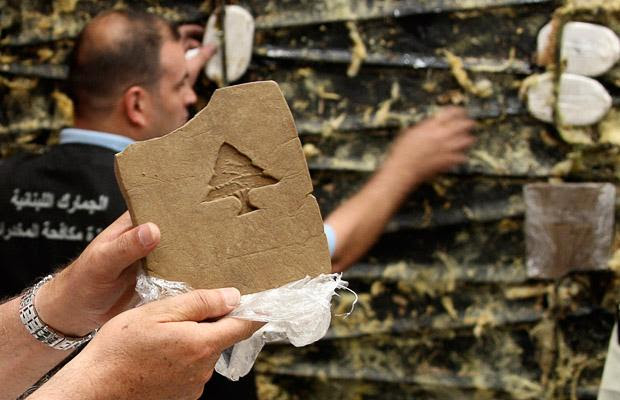 Lebanese Hashish Stamped With The Distinctive Cedar Tree Symbol