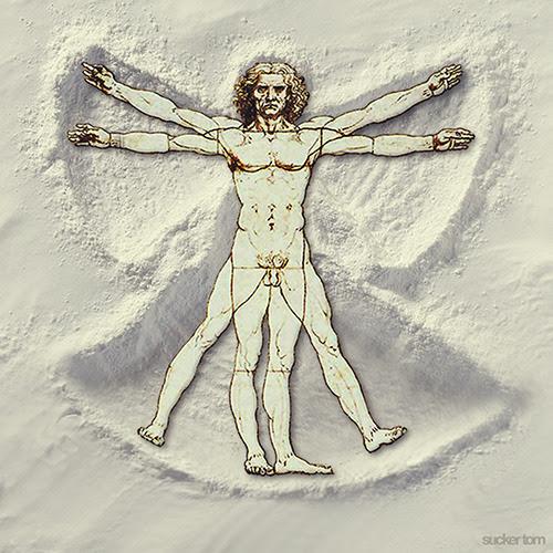 """Leonardo da snowangel"""