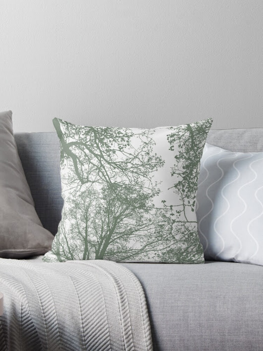 'Abstract Trees' Throw Pillow by by-jwp