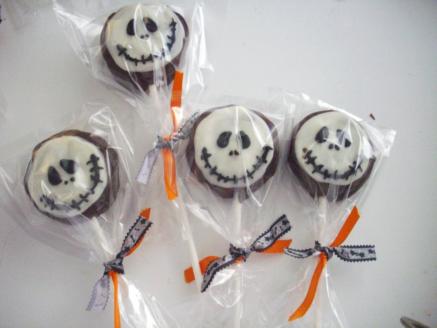 Skull chocolate covered sandwich cookie Party Favors