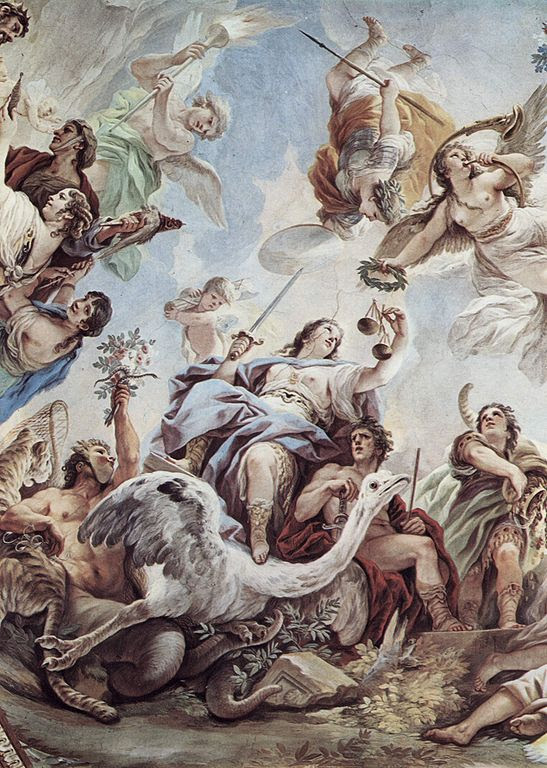 Justice by Luca Giordano.