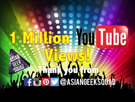 1 Million YouTube Views! Thank you! GIVEAWAYS!