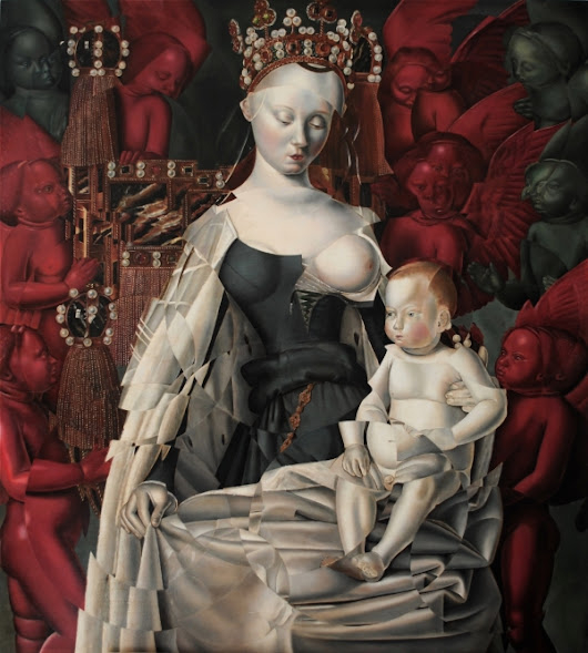 Madonna and Child - after Jean Fouquet by Masha Gusova