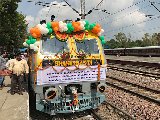 Solar- Powered Train: Indian Railways Indian Railways launches first solar-powered train