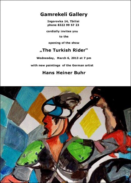 Invitation Gamrekeli Gallery The Turkish Rider b